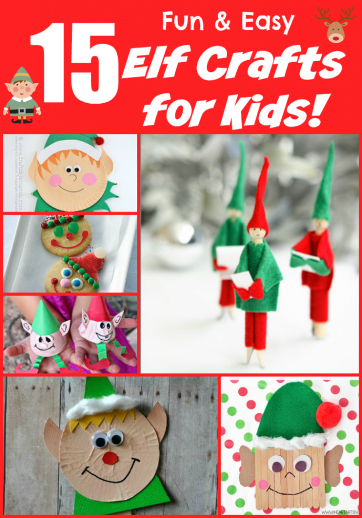 Elf crafts for kids 15 fun ideas letters from santa for Free christmas crafts for kids