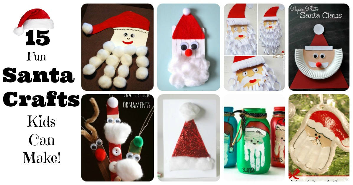 Santa crafts kids can make 15 fun ideas letters from for Fun blog ideas