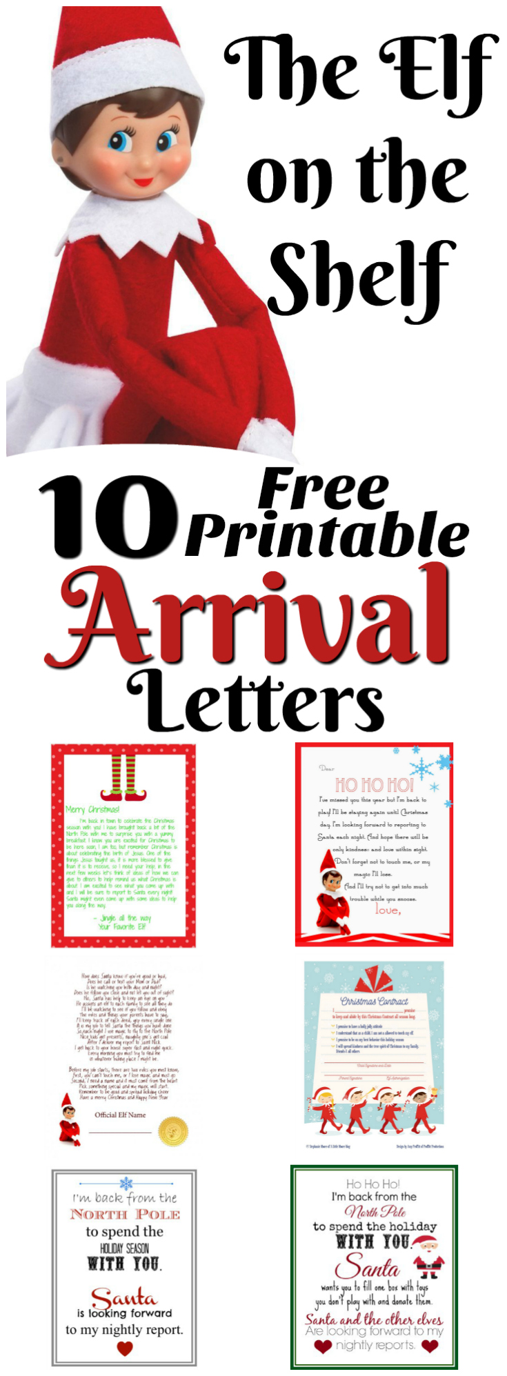 Elf On The Shelf Ideas For Arrival  Free Printables  Letters
