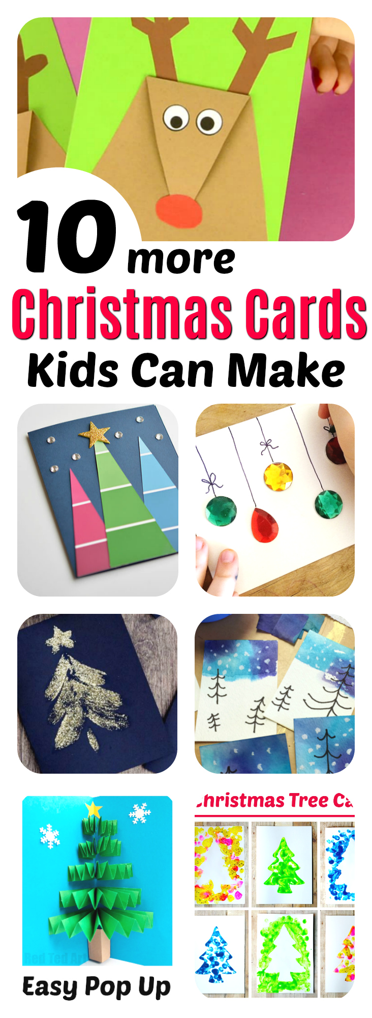 Christmas Cards Kids Can Make: 10 More Ideas!