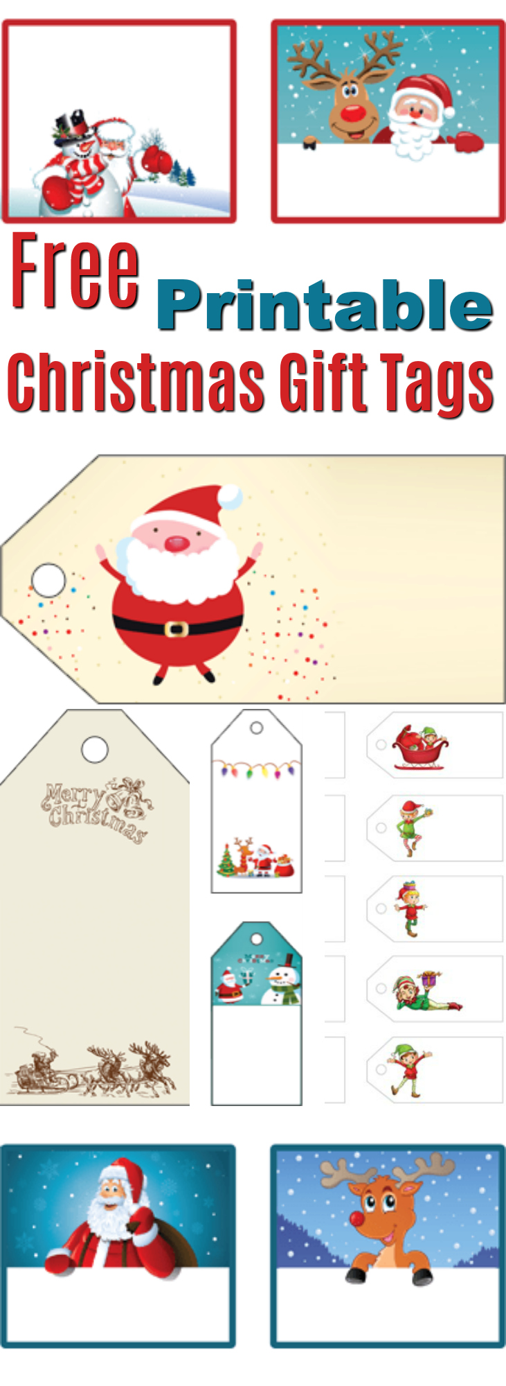 Free printable labels from santa kamos sticker free printable christmas labels decoration new year 2017 holiday negle Images
