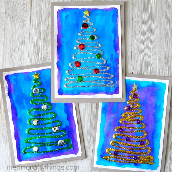 Christmas cards kids can make 10 more ideas letters for Crafty christmas cards ideas