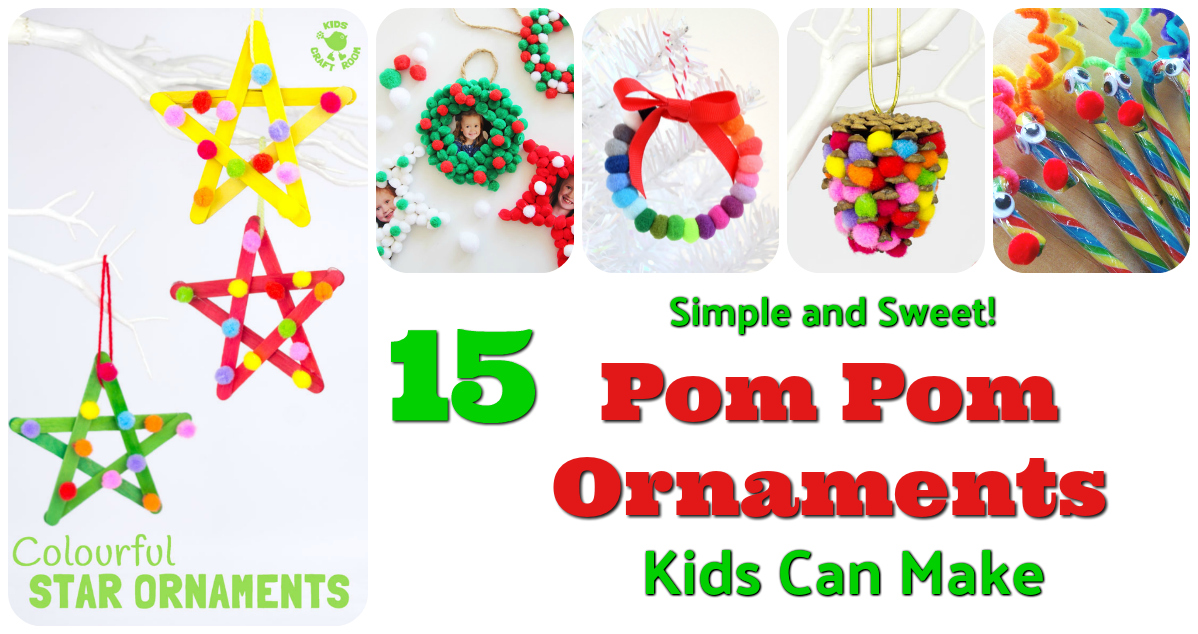 Pom Pom Ornaments Kids Can Make Letters From Santa
