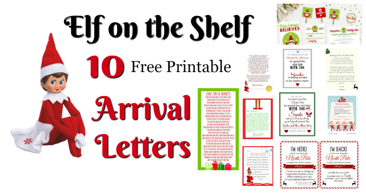 elf on the shelf letters printable on the shelf ideas for arrival 10 free printables 10180 | The Elf on the Shelf Ideas for Arrival 10 Free Printables Letters from Santa Blog