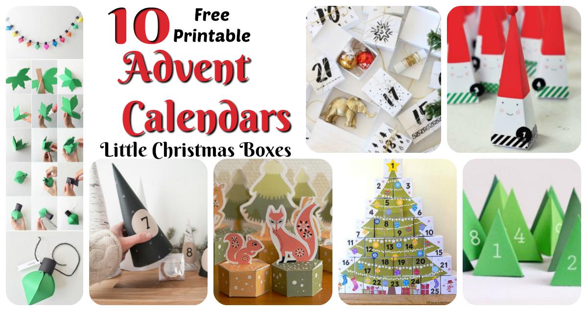 photo regarding Free Printable Advent Calendar called The Printable Arrival Calendar: Very little Xmas Containers