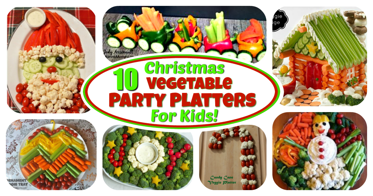 Christmas Veggie Tray.Veggie Platters For Kids 10 Christmas Party Trays