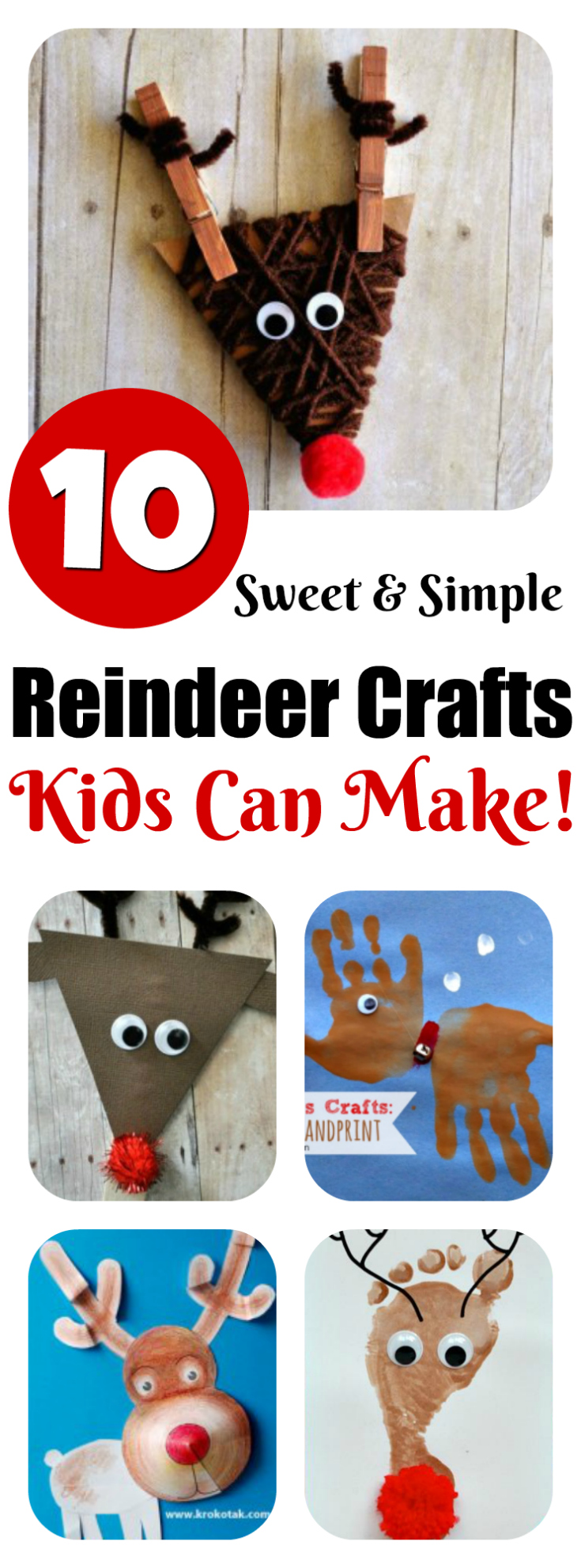 easy christmas craft ideas for kids to make reindeer crafts can make 10 ideas letters 8201