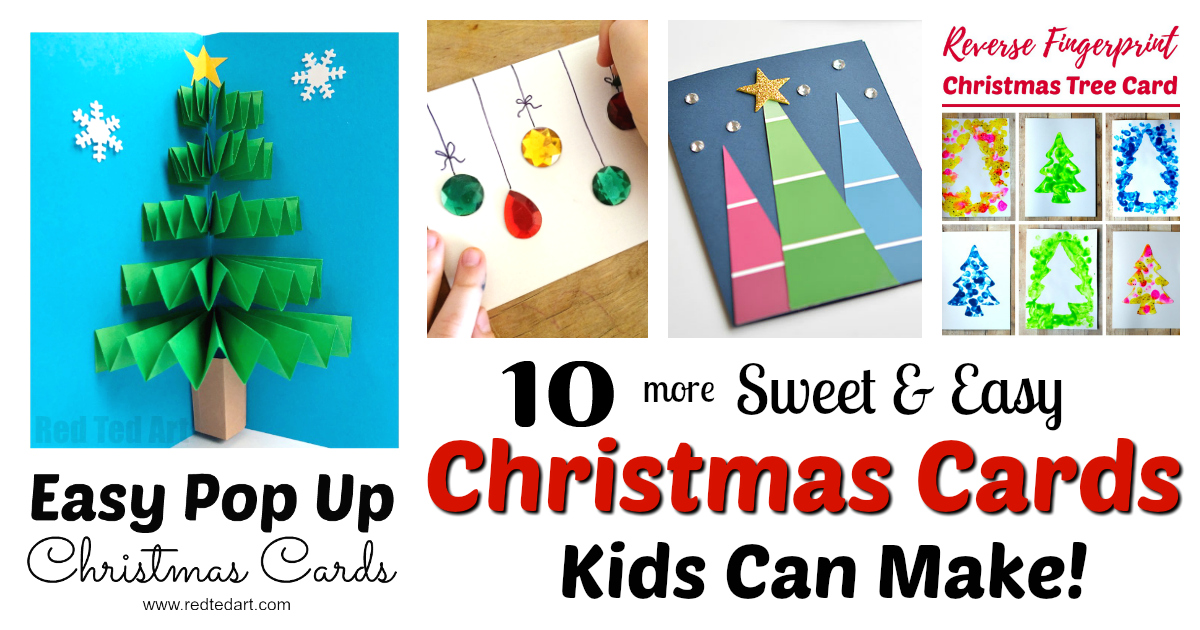 christmas cards kids can make 10 more ideas letters from santa blog christmas cards kids can make 10 more