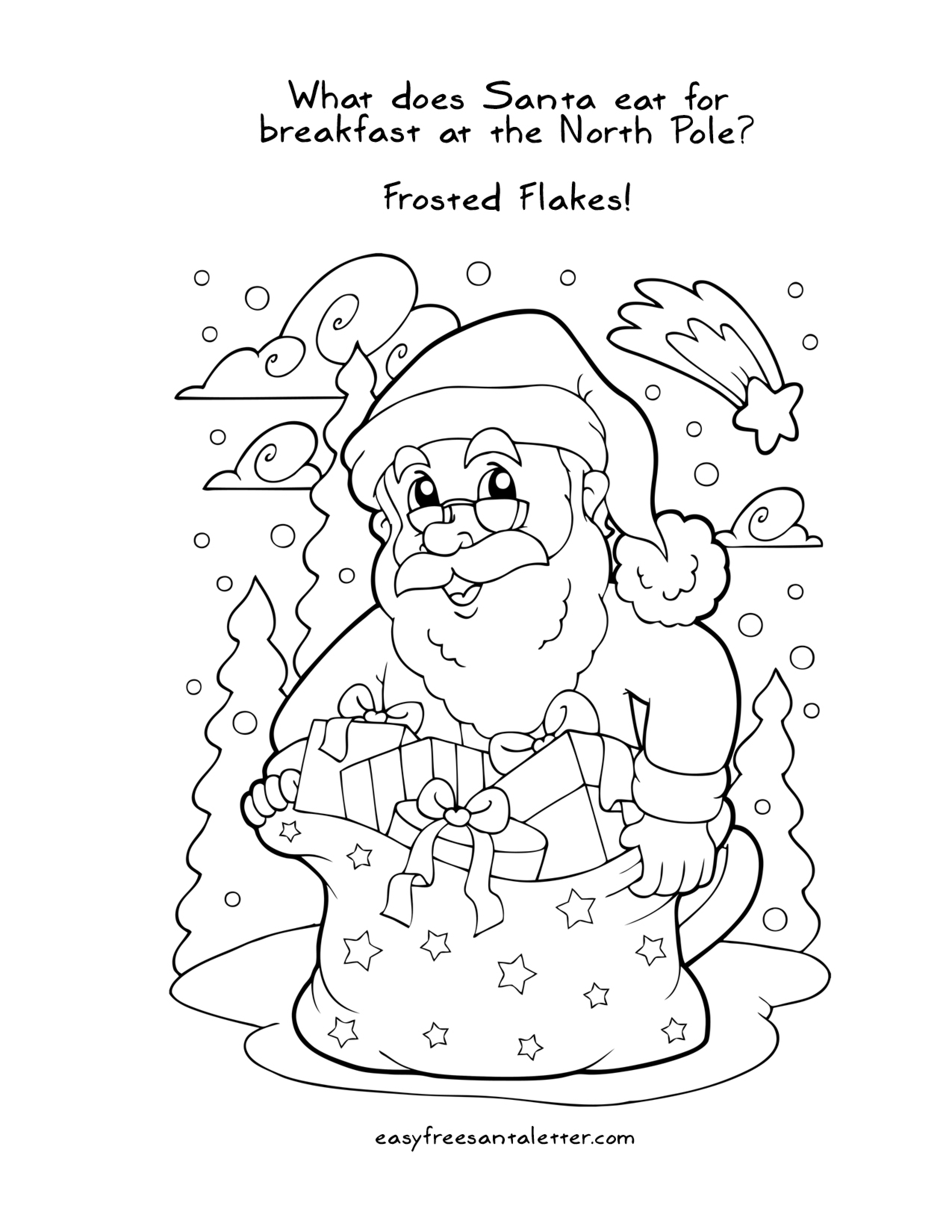Free Printable Christmas Coloring
