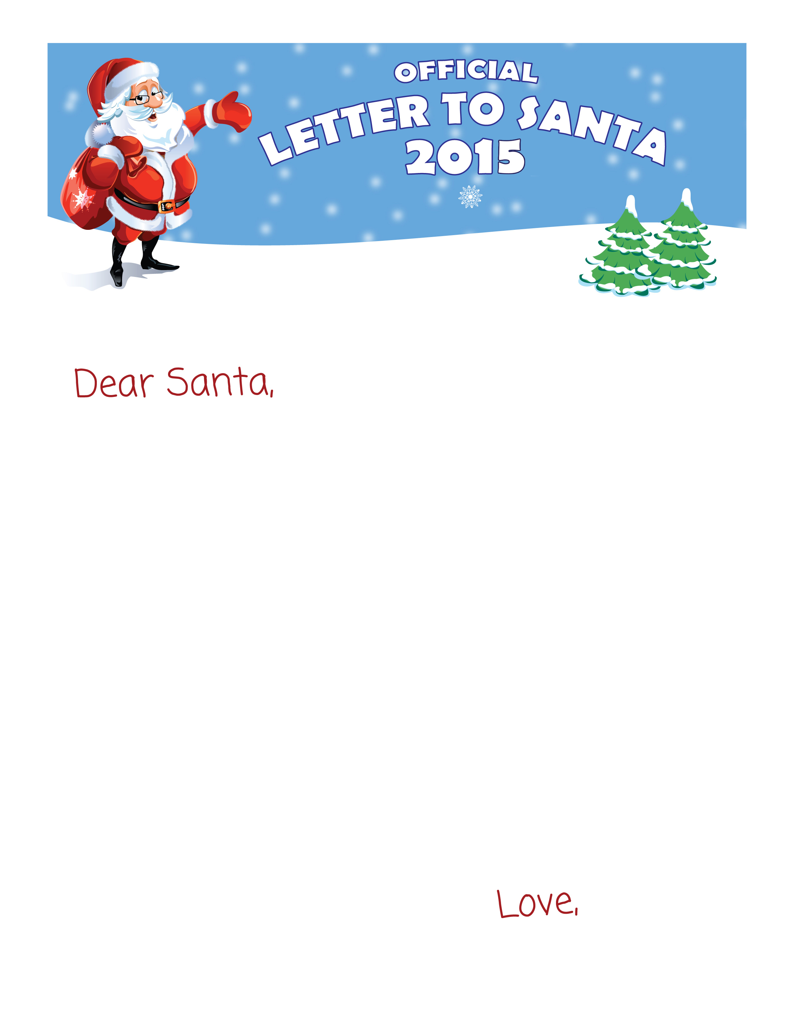 blank letter from santa free printable letter to santa letters from santa www 10176