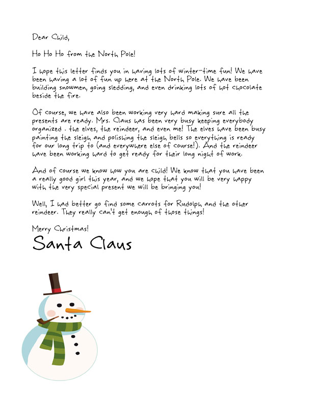 photo about Printable Letter Explaining Santa called Simple Totally free Letters in opposition to Santa Customise your words and
