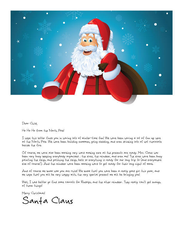 free santa letter template - easy free letters from santa customize your text and
