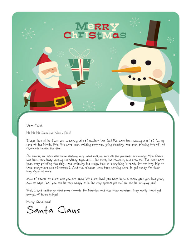 photograph regarding Printable Letters From Santa called Very simple No cost Letters towards Santa Customise your terms and