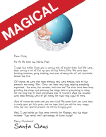 sleepy santa printable letter from santa featuring santa in the shape of a cresent moon in