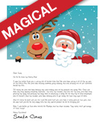 Easy free letters from santa customize your text and design and santa letter template with santa and rudolph hugging and smiling out at children on a snowy spiritdancerdesigns