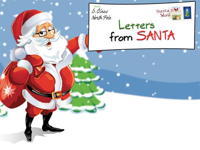 picture about Free Printable Letter From Santa Template referred to as Basic Cost-free Letters in opposition to Santa Claus In direction of Youngsters